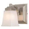 allen + roth 1-Light Elloree Brushed Nickel Bathroom Vanity Light