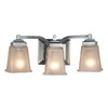 allen + roth 3-Light Elloree Brushed Nickel Bathroom Vanity Light