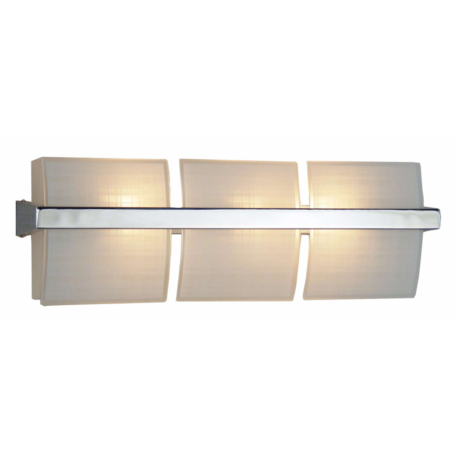 Vanity Light With Outlet Lowes : Shop Style Selections 3-Light Adner Chrome Bathroom Vanity Light at Lowes.com