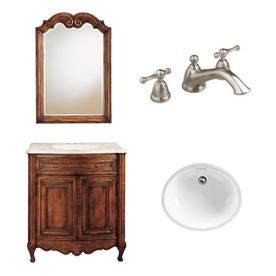 Bath Vanity Combo at Lowes Vanity, Sink, Faucet, Mirror Vanities