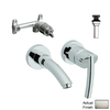 GROHE Tenso Brushed Nickel 1-Handle Widespread Bathroom Sink Faucet (Drain Included)