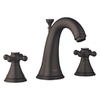 GROHE Geneva Oil-Rubbed Bronze 2-Handle Widespread Bathroom Sink Faucet (Drain Included)