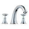 GROHE Kensington Chrome 2-Handle Adjustable Deck Mount Tub Faucet