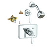 GROHE Somerset Starlight Chrome 1-Handle Shower Faucet with Single-Function Showerhead