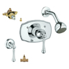 GROHE Bridgeford Starlight Chrome 2-Handle Shower Faucet with Single-Function Showerhead