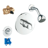 GROHE Veris Starlight Chrome 1-Handle Shower Faucet with Single Function Showerhead