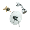 GROHE Concetto Starlight Chrome 1-Handle Shower Faucet with Single-Function Showerhead