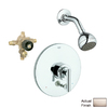 GROHE Tenso Brushed Nickel 1-Handle Shower Faucet with Single-Function Showerhead