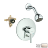 GROHE Essence Brushed Nickel 1-Handle Shower Faucet with Single-Function Showerhead