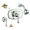 GROHE Geneva Starlight Chrome 1-Handle Shower Faucet with Single-Function Showerhead