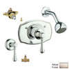 GROHE Geneva Brushed Nickel 1-Handle Shower Faucet with Single-Function Showerhead