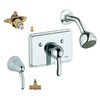 GROHE Talia Starlight Chrome 1-Handle Shower Faucet with Single-Function Showerhead