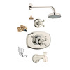 GROHE Seabury Polished Nickel 1-Handle Tub and Shower Faucet with Multi-Function Showerhead