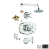 GROHE Seabury Oil-Rubbed Bronze 1-Handle Tub and Shower Faucet with Multi-Function Showerhead