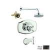 GROHE Seabury Oil-Rubbed Bronze 1-Handle Bathtub and Shower Faucet with Multi-Function Showerhead