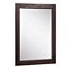 allen + roth 24-in H x 20-in W Contemporary Espresso Rectangular Bathroom Mirror