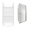 Swanstone Veritek Fiberglass/Plastic Wall and Floor 3-Piece Alcove Shower Kit (Common: 32-in x 32-in; Actual: 73.25-in x 32-in x 32-in)
