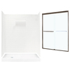 Swanstone Veritek Fiberglass/Plastic Wall and Floor 5-Piece Alcove Shower Kit (Common: 60-in x 32-in; Actual: 71.625-in x 58.6875-in x 34.75-in)