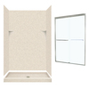 Swanstone Solid Surface Wall and Floor 5-Piece Alcove Shower Kit (Common: 48-in x 34-in; Actual: 72-in x 47-in x 33.12-in)