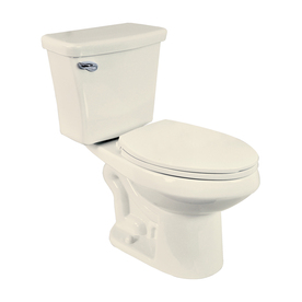 Penguin Toilets Dual Flush Biscuit 1.6; 1.1-GPF (6.06; 4.16-LPF) 12-in Rough-In Elongated Dual-Flush 2-Piece Chair Height Toilet
