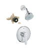 GROHE Parkfield Starlight Chrome 1-Handle Shower Faucet with Multi-Function Showerhead