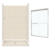 Swanstone Solid Surface Wall and Floor 5-Piece Alcove Shower Kit (Common: 48-in x 32-in; Actual: 72.5-in x 48-in x 32-in)