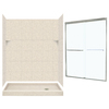 Swanstone Solid Surface Wall and Floor 5-Piece Alcove Shower Kit (Common: 60-in x 32-in; Actual: 72.5-in x 60-in x 32-in)