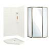 Swanstone Veritek Fiberglass/Plastic Wall and Floor Neo-Angle 3-Piece Corner Shower Kit (Actual: 71.625-in x 38.75-in x 38.75-in)