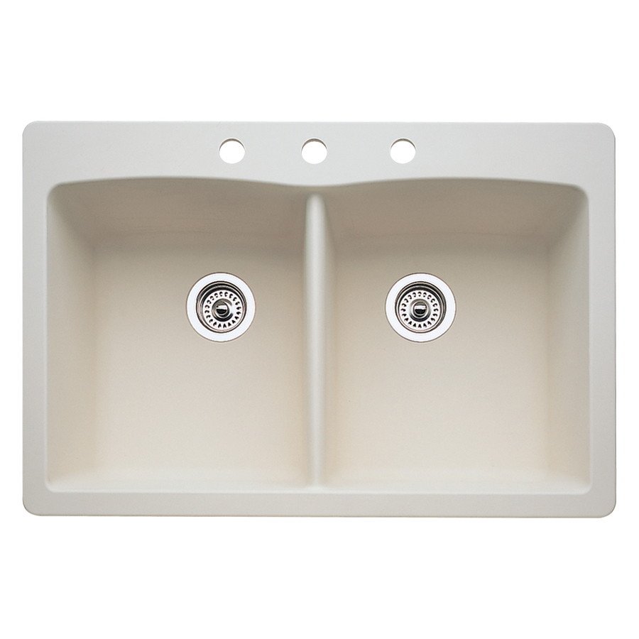 Blanco Drop In Sink : BLANCO Diamond Biscuit Double-Basin Drop-In or Undermount Kitchen Sink ...