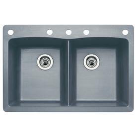 Blanco Grey Sink : Kitchen Kitchen & Bar Sinks Kitchen Sinks BLANCO Diamond Metallic Grey ...