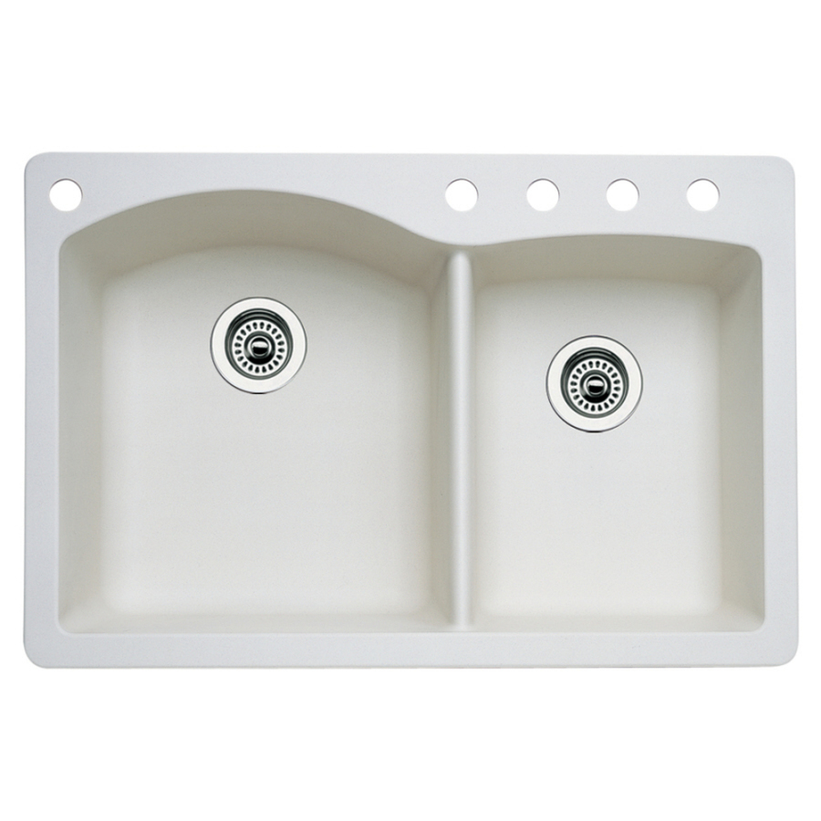 Diamond Kitchen Sink : BLANCO Diamond Biscuit Double-Basin Drop-In or Undermount Kitchen Sink ...