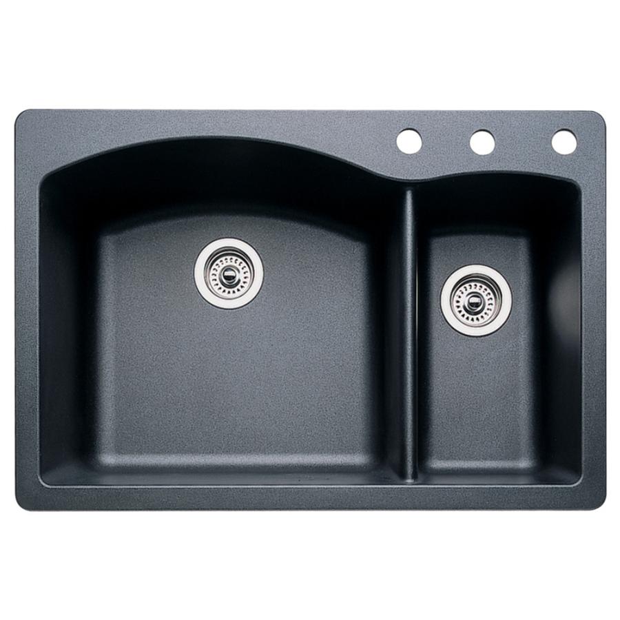 Blanco Kitchen Sinks Prices : BLANCO Diamond Anthracite Double-Basin Drop-In or Undermount Kitchen ...