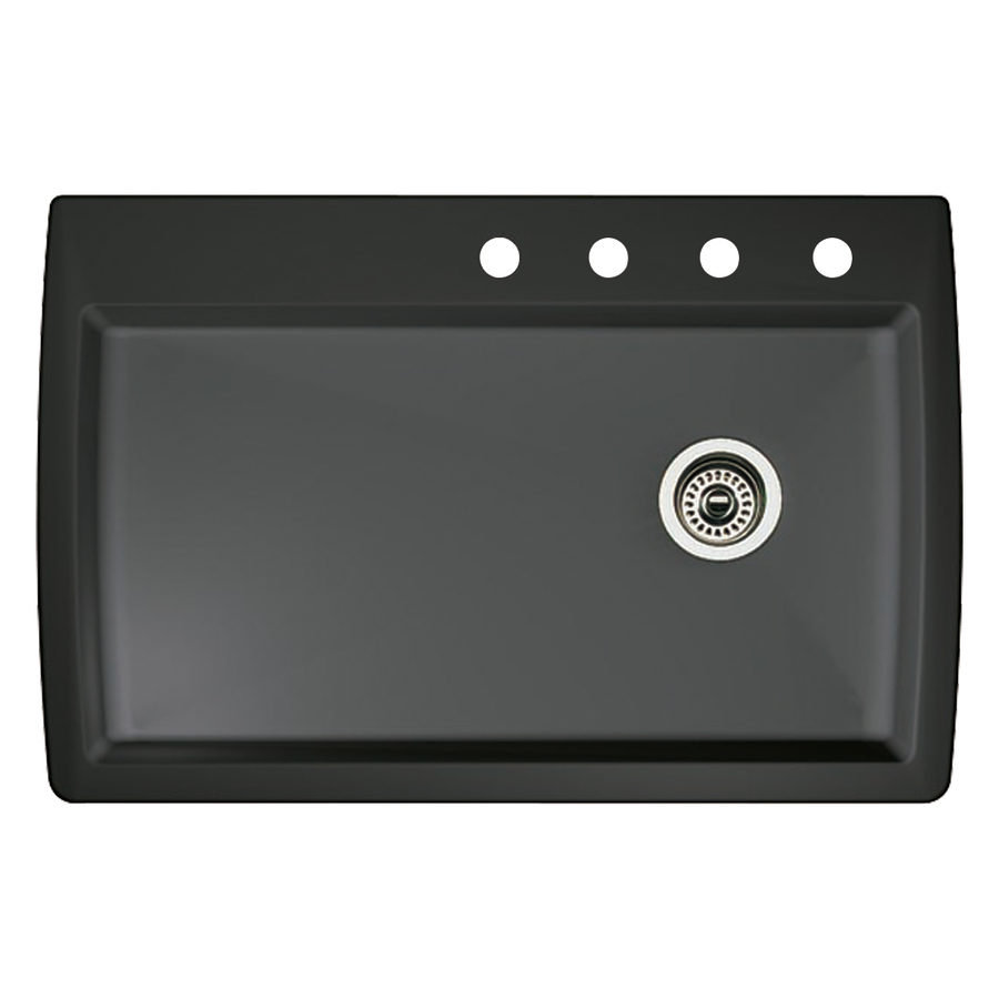 Blanco Single Sink : ... blanco diamond single basin drop in or undermount granite kitchen sink