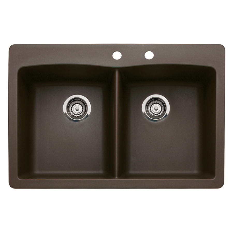 BLANCO Diamond Double-Basin Drop-In or Undermount Granite Kitchen Sink ...