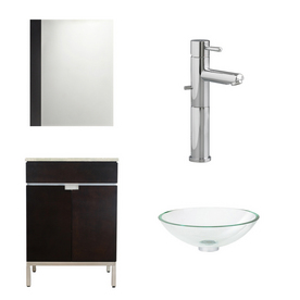 shop american standard 18 1 4 espresso studio bath vanity with top at
