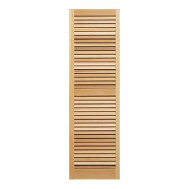 Shop Southern Shutter Company 2 Pack Raw Cedar Louvered Wood Exterior Shutters Common 39 In X