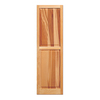 Southern Shutter Company 2-Pack Raw Cedar Raised Panel Wood Exterior Shutters (Common: 75-in x 15-in; Actual: 75-in x 15-in)