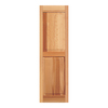 Southern Shutter Company 2-Pack Raw Cedar Raised Panel Wood Exterior Shutters (Common: 15-in x 75-in; Actual: 15-in x 75-in)