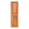 Southern Shutter Company 2-Pack Raw Cedar Raised Panel Wood Exterior Shutters (Common: 15-in x 63-in; Actual: 15-in x 63-in)