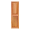 Southern Shutter Company 2-Pack Raw Cedar Raised Panel Wood Exterior Shutters (Common: 15-in x 67-in; Actual: 15-in x 67-in)