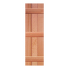 Southern Shutter Company 2-Pack Raw Cedar Board and Batten Wood Exterior Shutters (Common: 15-in x 55-in; Actual: 15-in x 55-in)
