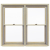 JELD-WEN Premium Wood Double Pane Annealed New Construction Double Hung Window (Rough Opening: 59.5-in x 53.25-in Actual: 58.75-in x 52.5-in)