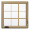 JELD-WEN Premium 1-Lite Aluminum-Clad Double Pane Annealed New Construction Casement Window (Rough Opening: 30.75-in x 36.75-in Actual: 30-in x 36-in)