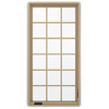 JELD-WEN Premium 1-Lite Aluminum-Clad Double Pane Annealed New Construction Egress Casement Window (Rough Opening: 36.75-in x 72.75-in Actual: 36-in x 72-in)