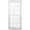 JELD-WEN Aluminum-Clad Double Pane Annealed New Construction Egress Double Hung Window (Rough Opening: 32.13-in x 72.75-in Actual: 31.38-in x 72-in)