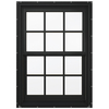 JELD-WEN Aluminum-Clad Double Pane Annealed New Construction Egress Double Hung Window (Rough Opening: 38.13-in x 64.75-in Actual: 37.38-in x 64-in)