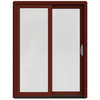JELD-WEN W-2500 59.25-in 1-Lite Glass Wood Sliding Patio Door with Screen