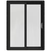 JELD-WEN W-2500 59.25-in 1-Lite Glass Chestnut Bronze Wood Sliding Patio Door with Screen