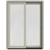 JELD-WEN W-2500 59.25-in 1-Lite Glass Wood Sliding Patio Door with Screen
