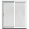 JELD-WEN W-2500 71.25-in 1-Lite Glass Wood Sliding Patio Door with Screen